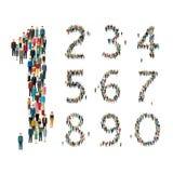 Zahlen gebildet aus Leuten heraus Beschneidungspfad eingeschlossen Lizenzfreies Stockbild