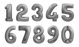Zahlen gemacht von den schwarzen aufblasbaren Ballonen Stockfotografie
