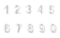 Zahlen geschnitten vom Papier Lizenzfreies Stockbild