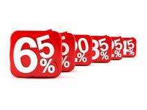 Zahlen mit Prozentsymbol Lizenzfreie Stockbilder