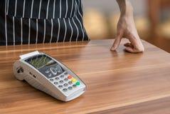 Zahlen mit Zahlungsanschluß im Shop Lizenzfreie Stockbilder