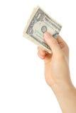 Zahlen Sie ein U S 1 Dollarschein Lizenzfreie Stockfotos