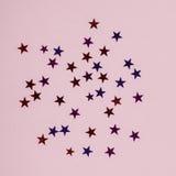 Zahlen Sterne von verschiedenen Farben Stockfotos