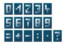 Zahlen und mathematische Symbole Lizenzfreie Stockbilder