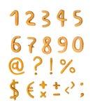 Zahlen vom Plasticine und auf einem weißen Hintergrund Lizenzfreie Stockbilder