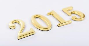 Zahlen von dem neuen 2015-jährigen auf einem weißen Hintergrund Stockbilder
