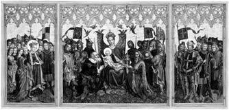 Zahlen von Ehrerbietung zu Mary und zum SäuglingsJesus Christus   Stockfotografie