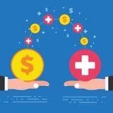 Zahlendes Krankheitsurlaubtageskonzeptdesign Unternehmensunternehmen lizenzfreie abbildung
