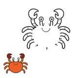 Zahlenspiel, Punkt zu punktieren (Krabbe) lizenzfreie abbildung