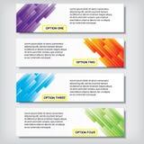 Zahlfahnen Schablone des Geschäfts des modernen Designs saubere oder Websiteplan Information-Grafiken Vektor Stockfoto