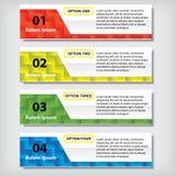 Zahlfahnen Schablone des Geschäfts des modernen Designs saubere oder Websiteplan Information-Grafiken Vektor Lizenzfreie Stockfotografie