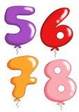Zahlspielzeug steigt 2 im Ballon auf Lizenzfreie Stockbilder