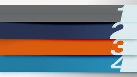 Zahlstangenfront-Introseite mit vier Kapiteln für Darstellung, PowerPoint-Schablone stock abbildung
