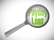 ZahltagÜberprüfungs- eines Kreditengagementsillustrationsdesign Stockfoto