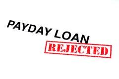 Zahltag-Darlehen zurückgewiesen lizenzfreies stockbild