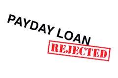 Zahltag-Darlehen zurückgewiesen lizenzfreie stockbilder