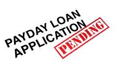 Zahltag-Kreditvorlage lizenzfreies stockbild