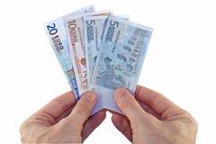 Zahlung in den Euro lizenzfreie stockbilder