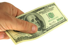 Zahlung durch Bargeld Lizenzfreies Stockbild