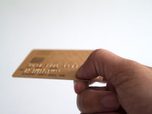 Zahlung durch Kreditkarte Lizenzfreies Stockbild
