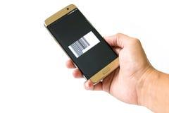Zahlung durch Smartphone lizenzfreies stockbild