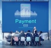 Zahlung fördert Buchhaltungs-Budget-Zahltag-Konzept lizenzfreie stockfotos