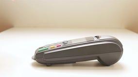 Zahlung für Waren stock video footage