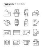 Zahlungs- und Kreditkarteikonen vektor abbildung