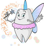 Zahn fairy_with Magiestab Stockbild