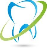 Zahn gezeichnet, Zahnarzt und Zahnpflegelogo stock abbildung
