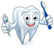 Zahn-Maskottchen-Zeichentrickfilm-Figur Lizenzfreies Stockfoto