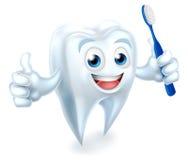 Zahn mit Bürsten-zahnmedizinischem Maskottchen Stockbild