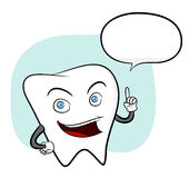 Zahn mit Text Stockfotos