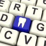 Zahn-Schlüssel bedeutet Zahnarzttermin oder Zähne lizenzfreie abbildung