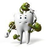 Zahn und Bakterien stock abbildung
