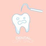 Zahn- und Forscherkarikaturillustration Stock Abbildung