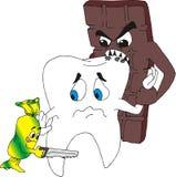 Zahn unter atack Lizenzfreie Stockfotos