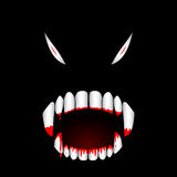 Zahn-Vektorillustration des Monsters blutige Stockbilder