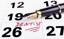 Zahnarzt Appointment Stockbilder