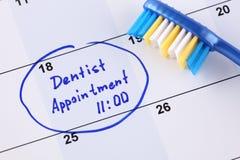 Zahnarzt Appointment Stockfotografie