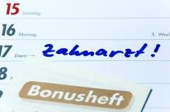 Zahnarzt Bonusheft Royalty Free Stock Image
