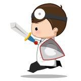 Zahnarzt, der ein Zeichen hält Stockfotografie