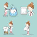 Zahnarzt mit dem Zahn stock abbildung