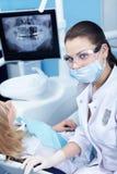 Zahnarztarbeiten Stockbild