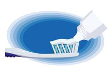 Zahnauftragen. lizenzfreie stockfotos