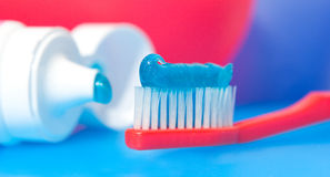 Zahnbürste lizenzfreies stockbild