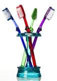 Zahnbürste in der Halterung Lizenzfreies Stockbild