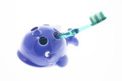 Zahnbürste in der Halterung Lizenzfreie Stockbilder