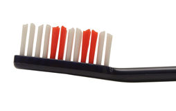 Zahnbürste getrennt auf Weiß stockfoto