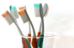 Zahnbürste sechs Stockfotografie